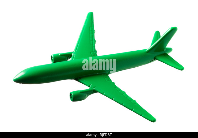 green model airplane - Stock Image