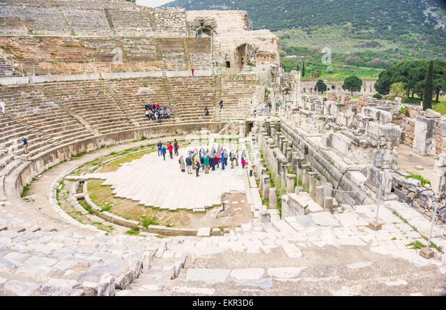 Great Theatre or Amphitheater in Ephesus, Selcuk, ?zmir Province, Aegean Region, Turkey - Stock-Bilder