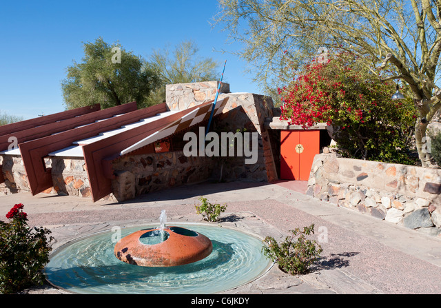 Taliesin West, Frank Lloyd Wright's Arizona home, Scottsdale, Phoenix, USA - Stock Image