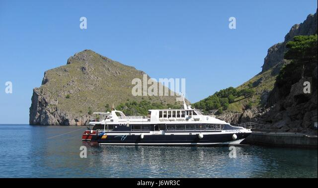 tourboat without guests - Stock Image