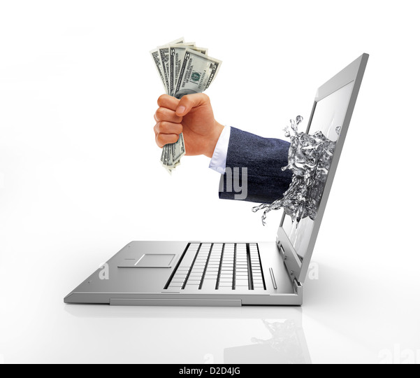 E-commerce conceptual computer artwork - Stock Image