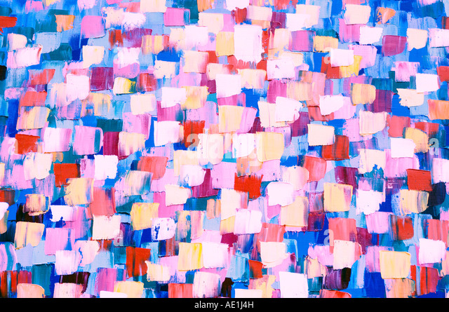 Abstract psychedelic oil painting - Stock Image