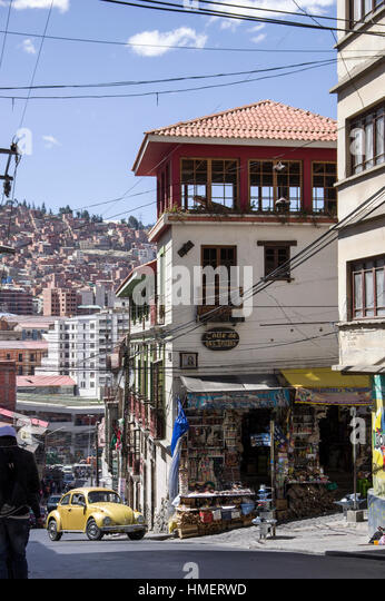 Witches Market, Calle de las Brujas, in La Paz, Bolivia, where practitioners of traditional medicine ply their wares - Stock Image