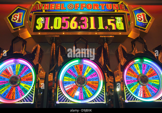Nevada Las Vegas Las Vegas Hotel & Casino LVH slot machine machines gambling - Stock Image