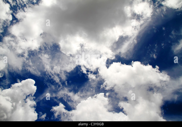 A blue sky with a cloudscape. - Stock Image