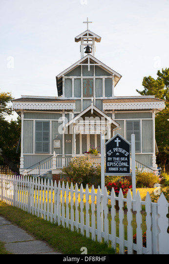 USA, New Jersey NJ N.J. Cape May St Saint Peter's by the Sea Episcopal Church - Stock Image