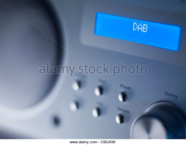 Close up of disc player screen and dials - Stock Image