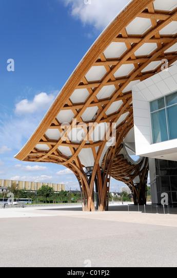Detail view, Centre Pompidou-Metz, Metz, Lorraine, France, Europe - Stock-Bilder