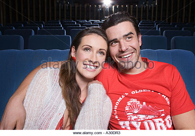 Couple in the cinema - Stock Image