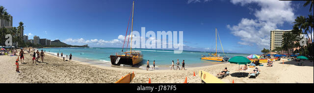 WAIKIKI BEACH, Honolulu, Hawaii. Photo Tony Gale - Stock-Bilder
