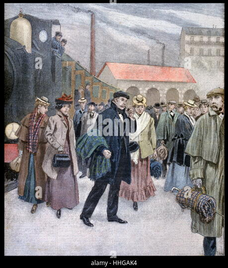 Illustration showing the English industry and transport display at the Exposition Universelle of 1900. - Stock Image