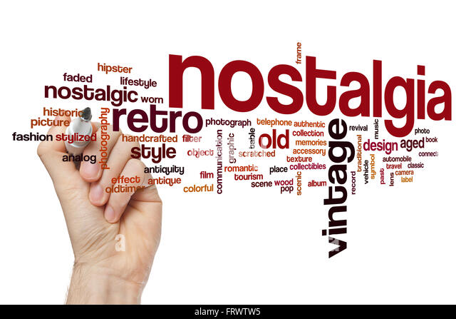 Nostalgia concept word cloud background - Stock-Bilder