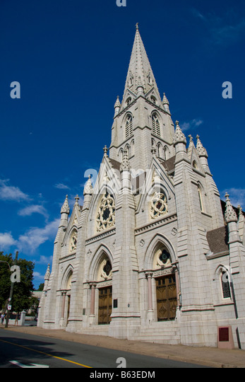 Saint Mary's Cathedral Basilica - Halifax, Nova Scotia, Canada - Stock Image