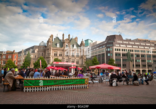 England, West Midlands, Birmingham, Victoria Square, Food Festival - Stock Image