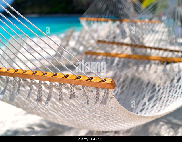 Hammock. Jost Van Dyke. British Virgin Islands - Stock Image