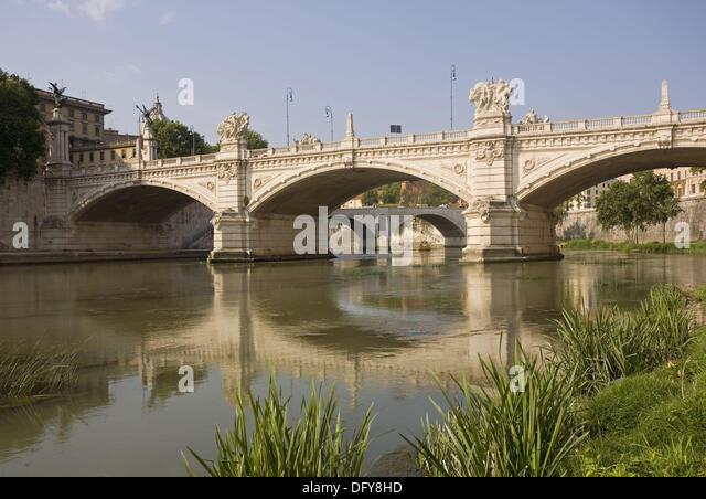 Ponte Vittorio Emanuele II, Rome, Italy - Stock Image