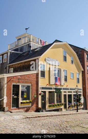 Massachusetts, New Bedford. Historic Centre Street, one of the oldest streets in New Bedford. - Stock Image