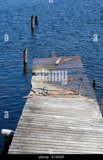 decayed jetty - Stock Image