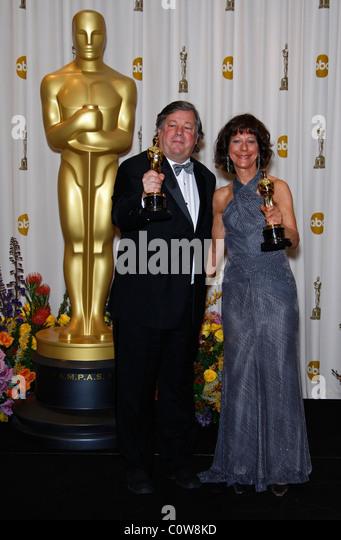 KIRK SIMON KAREN GOODMAN 83RD ACADEMY AWARDS PRESS ROOM KODAK THEATRE HOLLYWOOD USA 27 February 2011 - Stock Image