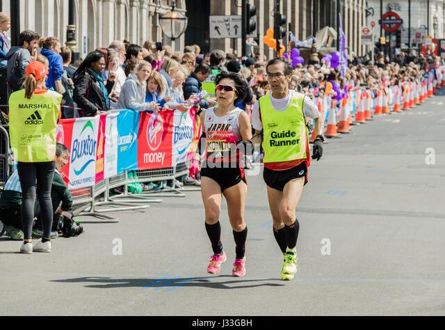 Hiroko Kondo at the London Marathon 2017 - Stock Image