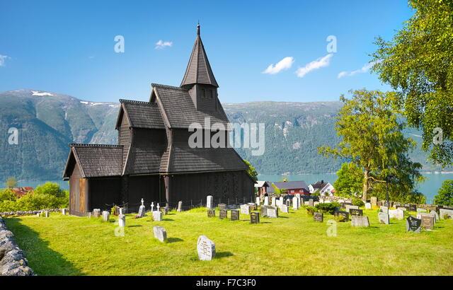 Urnes Stave Church, Unesco, Norway - Stock-Bilder