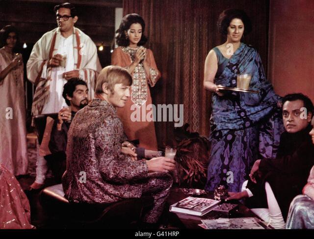 The Guru, USA/Indien 1969, Regie: James Ivory, Darsteller: Michael York, Utpal Dutt (rechts) - Stock-Bilder