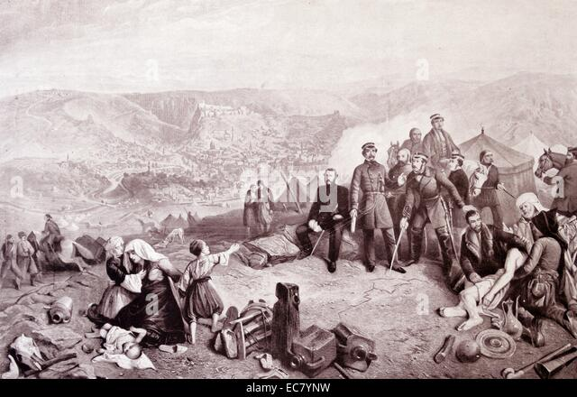 The Defence of Kars. During the Crimean War an Ottoman garrison led by British officers including General William - Stock Image