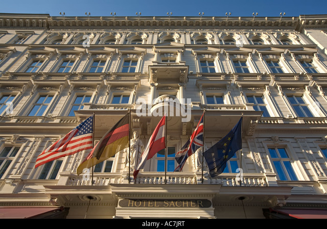 Vienna Austria Hotel Sacher - Stock Image
