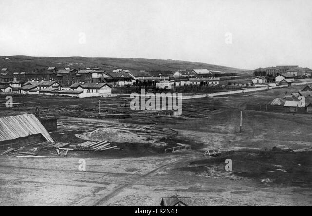 Tsaritsyn Volgograd. View of the landside area. Railway terminal R. - Stock-Bilder