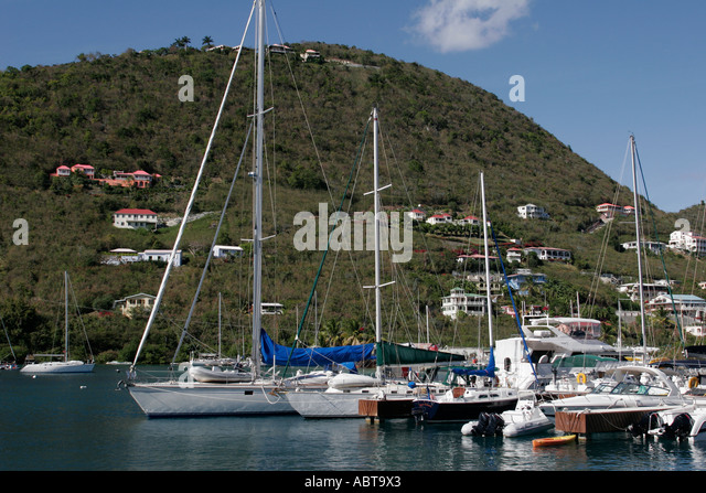 BVI Tortola Frenchmans Cay Soper's Hole Wharf and Marina - Stock Image