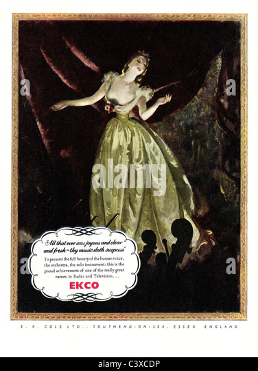 Advertisement for Ekco, from The Festival of Britain guide, published by HMSO. London, UK, 1951 - Stock-Bilder
