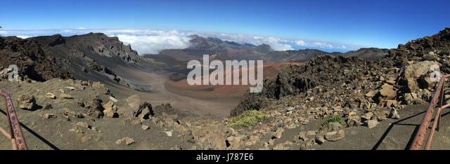MAUI ISLAND, Hawaii. Interior of the Haleakala volcanic crater. Photo: Tony Gale - Stock-Bilder