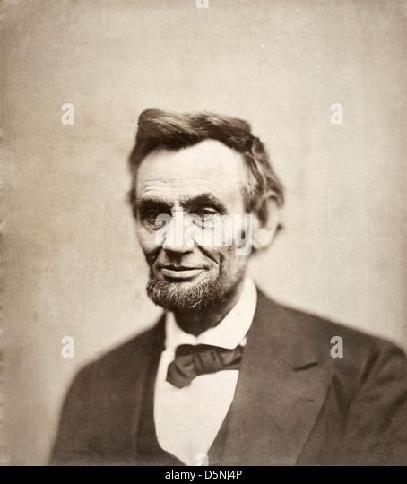 Alexander Gardner, Abraham Lincoln 1865 Photograph. National Portrait Gallery, Smithsonian Institution, Washington, - Stock Image