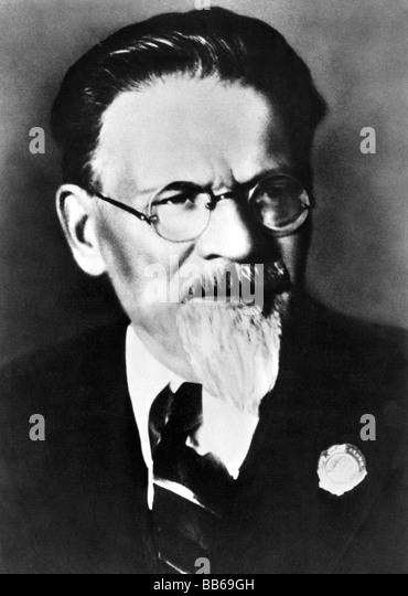 Kalinin, Mikhail Ivanovich, 19.11.1875 - 3.6.1946, Soviet politician, portrait, Michael, - Stock Image