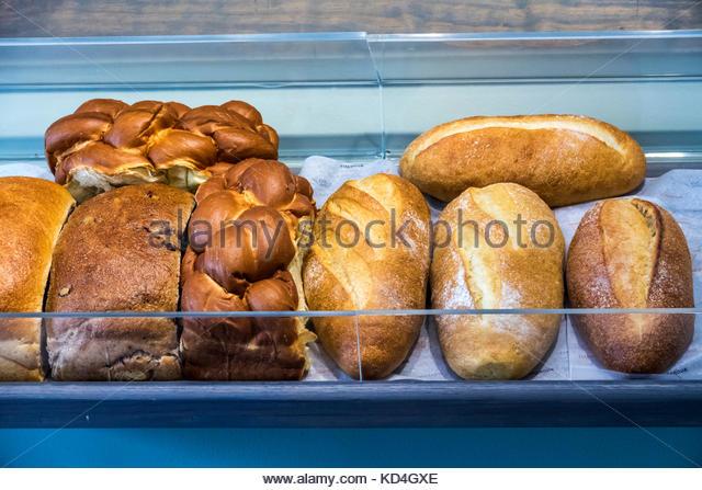 Washington DC District of Columbia Capitol Hill neighborhood Firehook Bakery artisanal breads - Stock Image