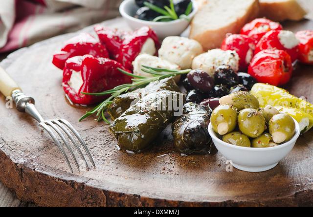 Mixed Antipasto - Stock Image