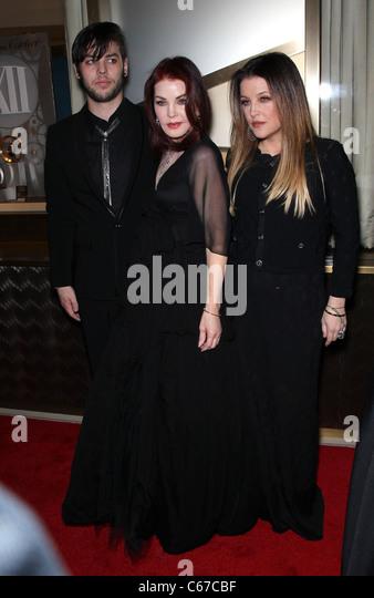 Navarone Garibaldi, Priscilla Presley, Lisa Marie Presley in attendance for Nevada Ballet Theatre Annual Black and - Stock Image