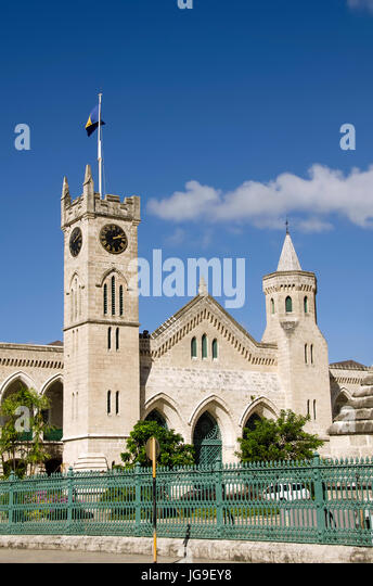Parliament Buildings Bridgetown Barbados - Stock Image
