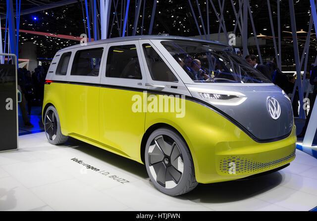 Volkswagen I.D. Buzz concept at the 87th International Geneva Motor Show - Stock Image