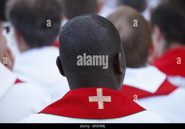 Catholic priests, Paris, France, Europe - Stock-Bilder