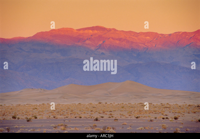 Sand dunes, Death Valley National Park, California, USA - Stock Image