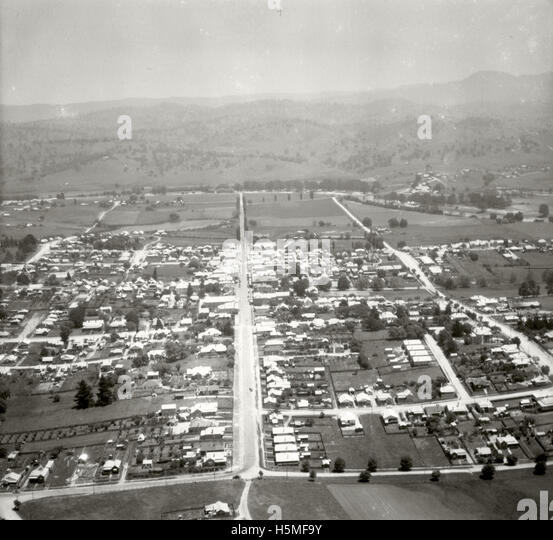 Bega looking west - 17 Nov 1937 - Stock Image