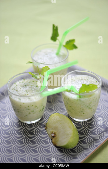 Apple and Coriander Smoothie - Stock Image
