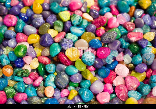 Colorful rock pebbles - Stock-Bilder