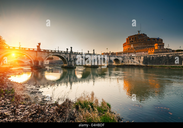 Sant'Angelo fortress, Rome - Stock Image