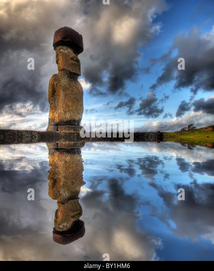 Moai on Easter Island - Stock-Bilder