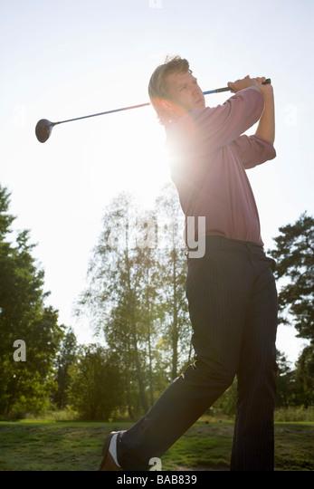 Golf, outdoors, man - Stock Image