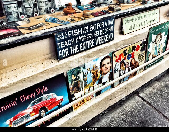 Nostalgic vintage signs. - Stock Image