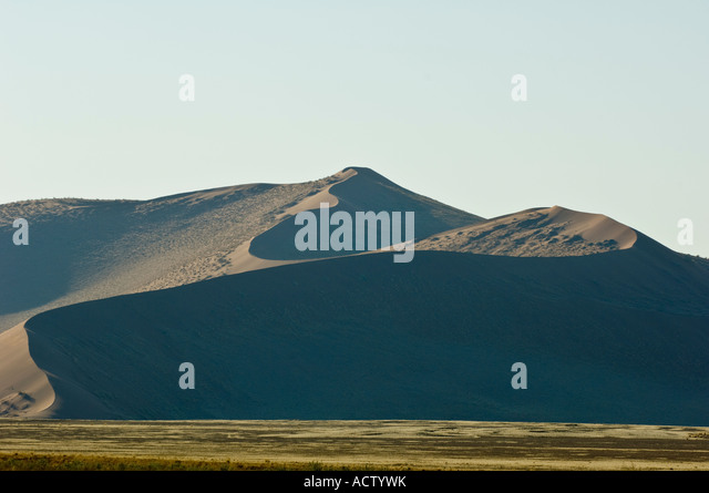 Sossusvlie Dunes in mid afternoon sun - Stock Image