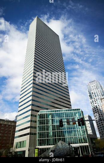 one financial center skyscraper Boston USA - Stock Image
